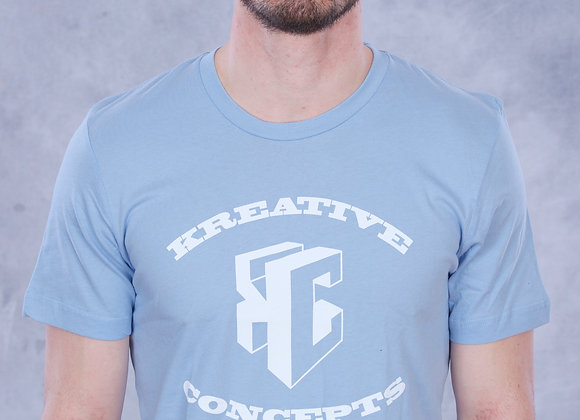 Kreative Concepts Logo (Baby Blue/White)