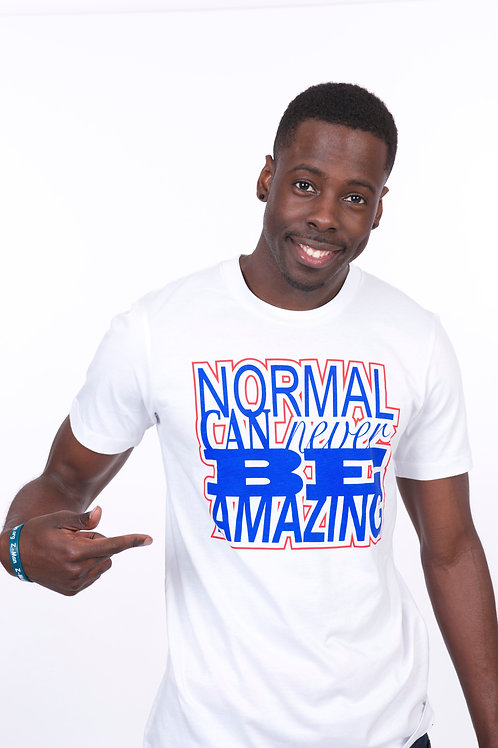 Normal Never Amazing (white/blue/red)