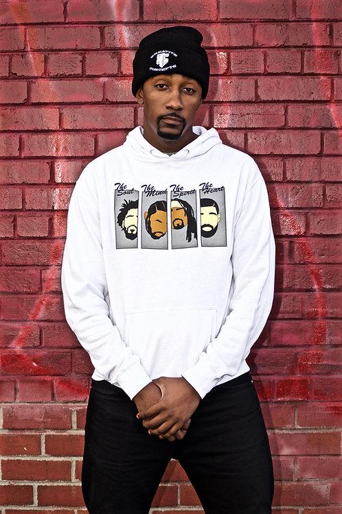 Rapper Heads Hoodie (White/Grey)