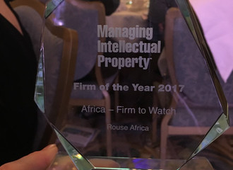 "Rouse Africa Takes Home ""The Africa-Firm to Watch"" Award at Global IP Awards Ceremony."