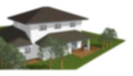 Perspective d'une maison dessinée par Home 3D Construction