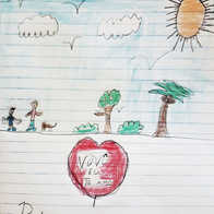 O desenho de Pedro, neto de João.