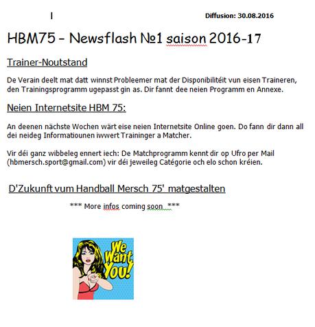 Newsflash 1: 2016-2017
