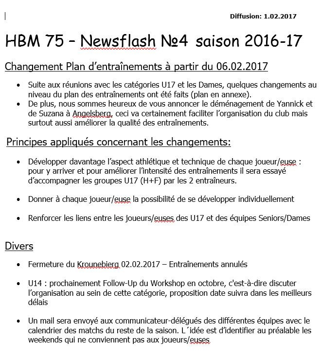 Newsflash 4: 2016-2017