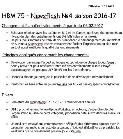 Newsflash 4: 2016-2017