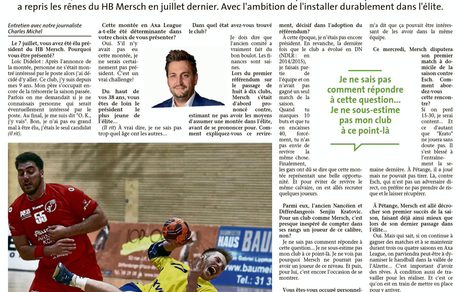 Artikel Le Quotidien 30092020