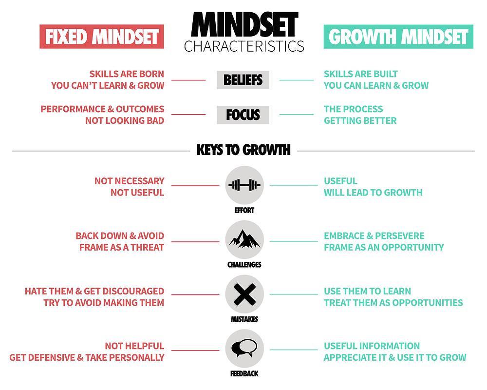 Growth & Fixed Mindset Characteristics Train Ugly