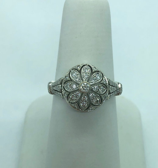 Antique diamond dress ring, antiques wendover