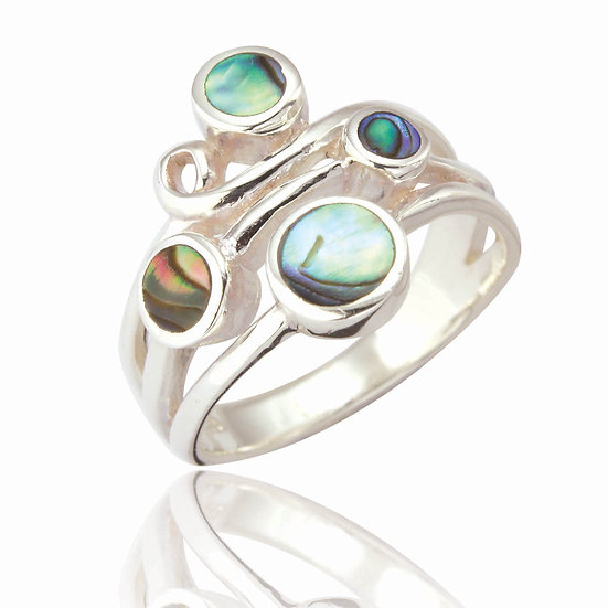 Abalone Shell, Scatter Ring