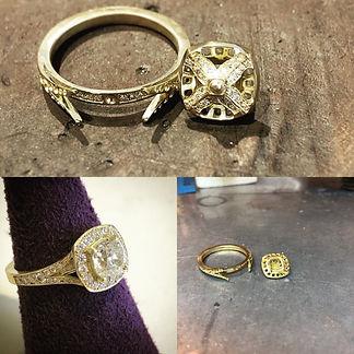 Diamond bespoke ring, jewellery amersham, jewellery repairs amersham