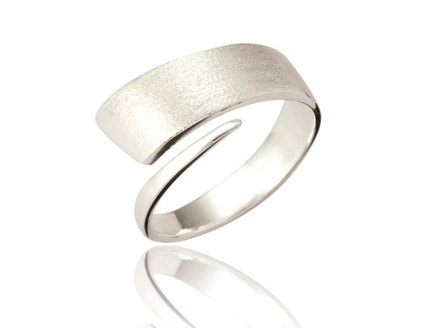 Silver wrapper ring