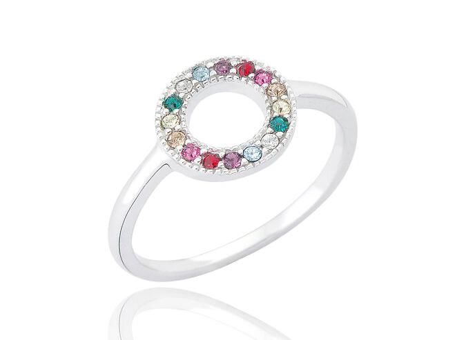 Open Circle Rainbow Ring