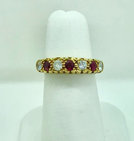 antique diamond and ruby ring, basford fine jewellery, wendover