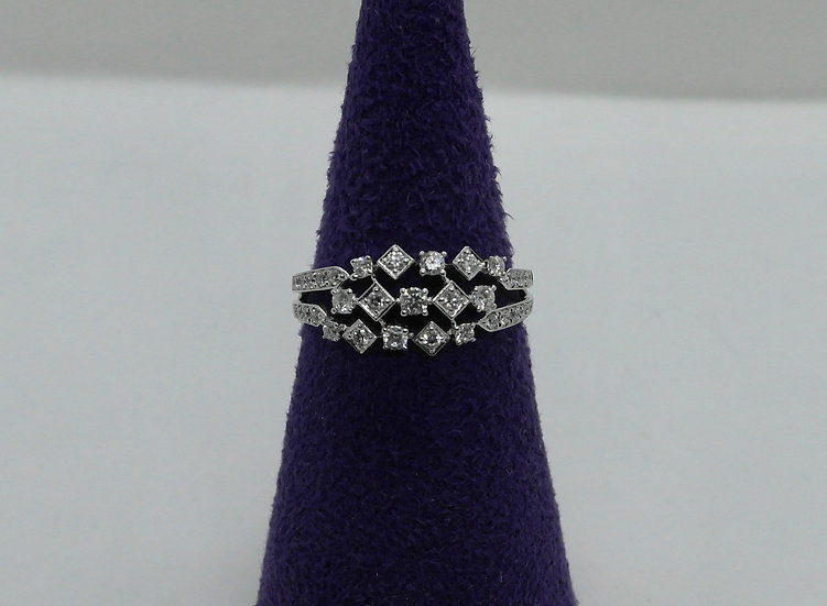 White Gold and Multi Diamond Ring
