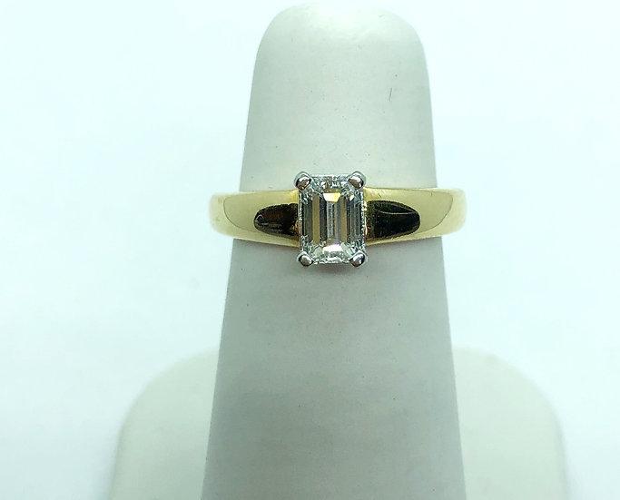 Emerald cut diamond ring for sale