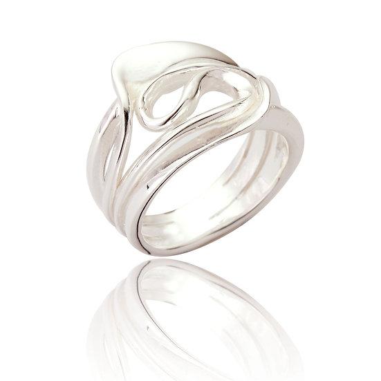 silver statement ring, jewellery great Missenden