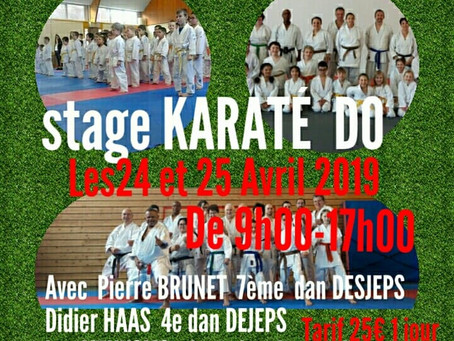 KARATE STAGE A CHALEZEULE