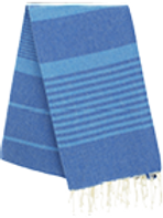 Fouta (Flat Weave) - Bicolor (Royal Blue/Turquoise) - Arthur Model