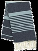 Fouta (Flat Weave) - Bicolor (Navy Blue/Sky Blue) - Arthur Model