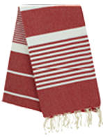 Fouta (Flat Weave) - Monocolor (RED FERRARI) - Arthur Model