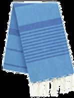 Fouta (Flat Weave) - Bicolor (Turquoise/Royal Blue) - Arthur Model