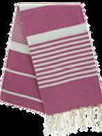 Fouta (Flat Weave) - Monocolor (FUSHIA PINK) - Arthur Model