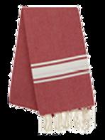 Fouta (Flat Weave) - Monocolor (RED FERRARI) - Ibiza Model