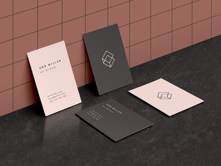 A business card that blends classic and modern elements
