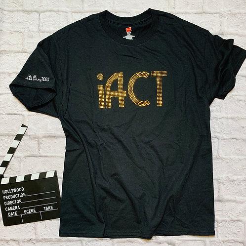 iACT: Gold Metallic Studs w/ Logo