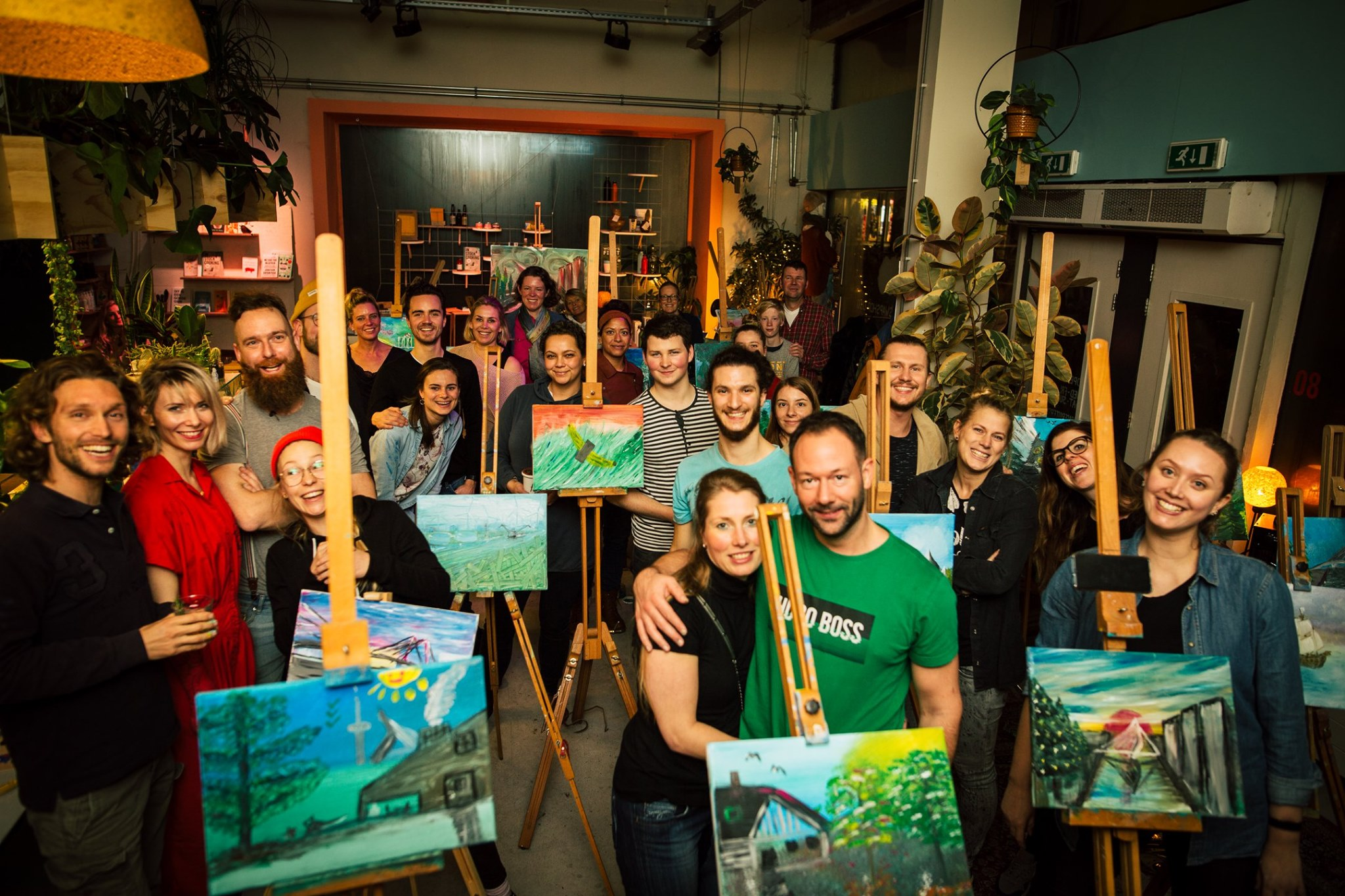 Bob Ross Painting Party: Happy Little Future - Foto door Joey Rietveld