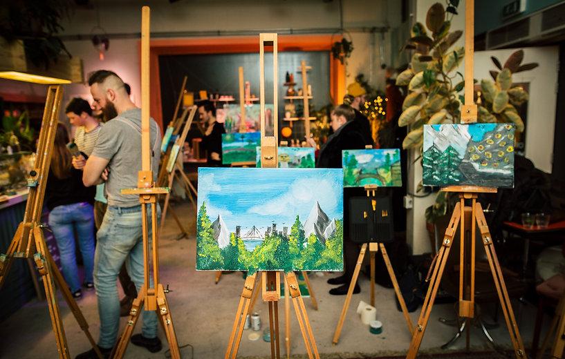 Copy of joeyrietveldzesvoetzeven-Bob Ross painting Party 2019 32.jpg
