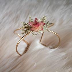 ✨ Bracelet manchette fleurs séchées✨ Mod