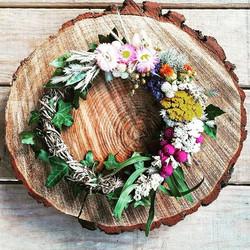 ✨ Couronne de fleurs séchées ✨_Avec un p