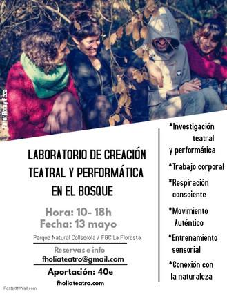 Laboratorio de Creación Teatral y Performática en el bosque