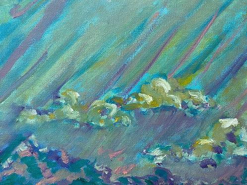 Rainstorm 8x10 Oil Painting on Canvas Panel