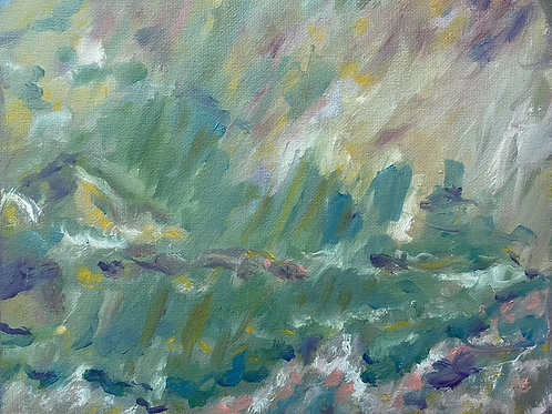 Rainstorm II 8x10 Oil Painting on Canvas Panel