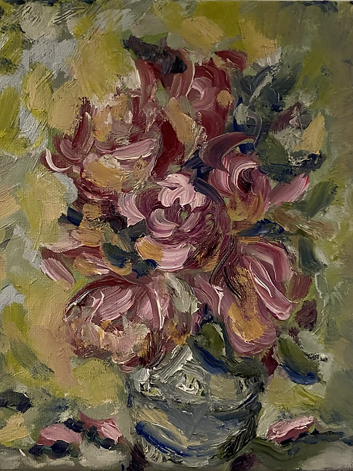 Graceful Blossoms 8x10 Original Oil Painting on Canvas