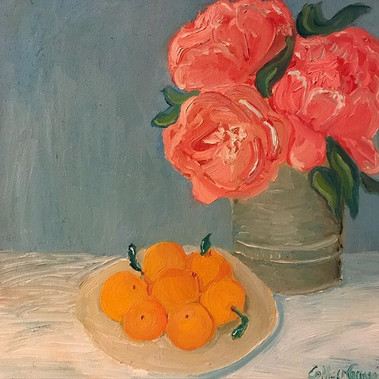 Peonies with Clementines