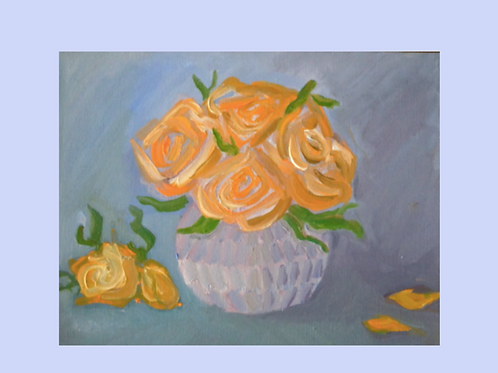 Floral Oil Painting Cards (Set of 5)