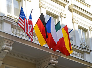 Flags of European and North American cou