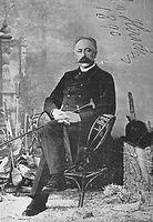 Baron Maurice de Hirsch, whose foundation provided loans for the construction of the New England Hebrew Farmers of the Emanuel Society synagogue and creamery, and the purchase of land by Jewish immigrant farmers, in Chesterfield, Connecticut