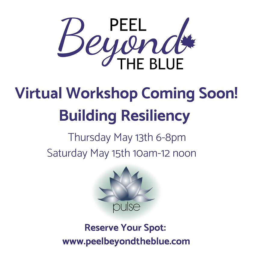 Building Resiliency- Saturday May 15th