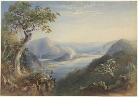 Hawkesbury River near Wiseman's Ferry by Conrad Martens 1838