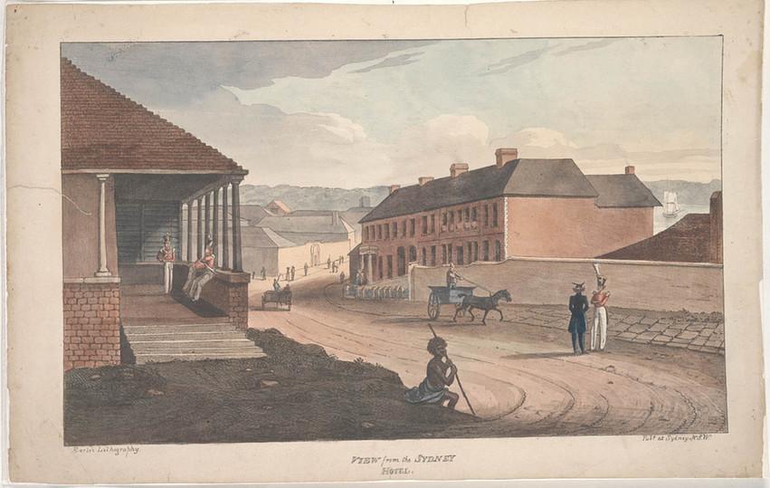 George Street Guard House, Sydney by Augustus Earle 1826