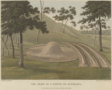 The Grave of and Australian Native by surveyor George Evans circa 1818