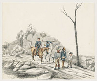 Prisoners under Escort to Bathurst Gaol, by George Lacey 1850