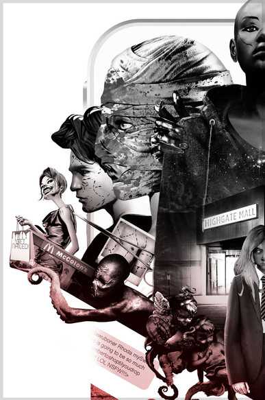 Poster for the S.L. Grey 'Downside' Trilogy / Zoom