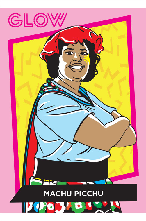 GLOW 80s Style Trading Card