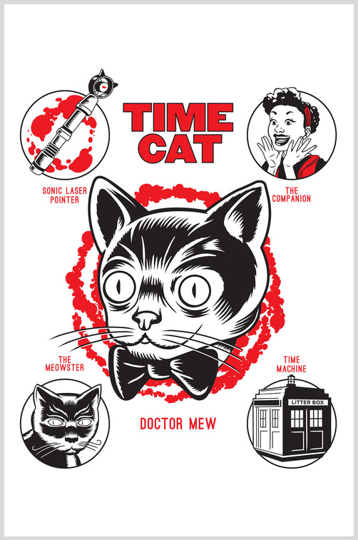 Time Cat / Bag Illustration for a Charity Event
