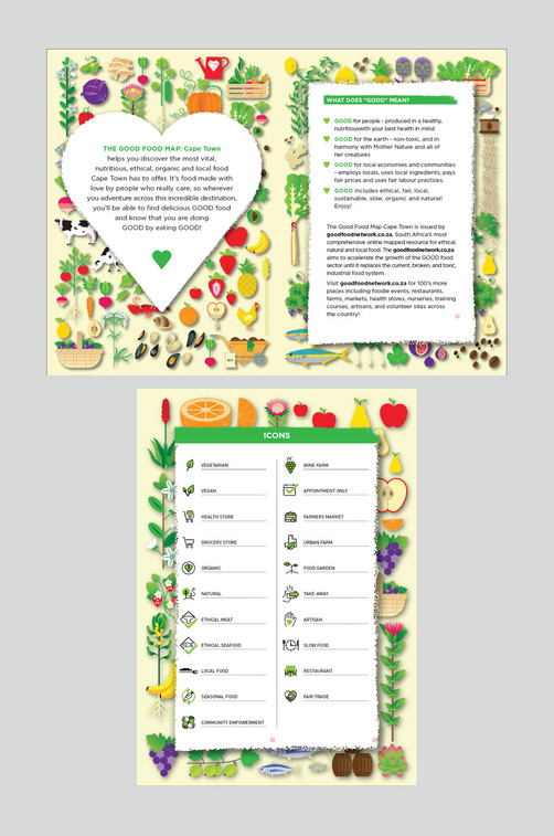 The Good Food Map / Interior Illustration